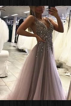 Sparkly Prom Dress, Unique Prom Dress,Grey Sparkly Beaded Prom Dress with Slit,Sexy Long Formal Dresses These 2020 prom dresses include everything from sophisticated long prom gowns to short party dresses for prom. Split Prom Dresses, Senior Prom Dresses, V Neck Prom Dresses, Unique Prom Dresses, Beaded Prom Dress, Dress Prom, Silver Prom Dresses, Dress Formal, Wedding Dresses