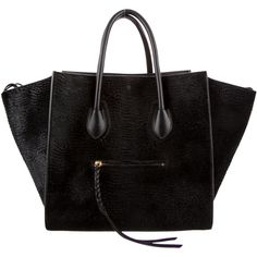 Pre-owned Celine Astrakhan Phantom Tote (€2.780) ❤ liked on Polyvore featuring bags, handbags, tote bags, accessories, purses, bolsas, black, pre owned purses, tote purse and handbags totes