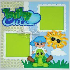 BLJ Graves Studio: Turtley Cute Boy Scrapbook Layout