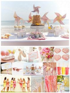 Pastel inspiration for a beachy wedding :)