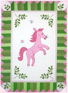 Michael Miller Fabrics Perfectly Pink Pony - FREE QUILT PATTERNS - GET INSPIRED