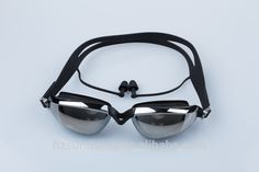 b4fd286585b6 Durable long-lasting anti-fog black adult swim goggles with diopter Swimming  Diving
