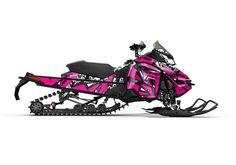 popt, pink, white, ski doo, graphics, ski doo graphic kits, ski doo wraps, snowmobile graphics, sled graphics, decal kits, graphic kits, deviant ink, deviantink, sledwraps, sled wraps, 2017, rev xs, xs, renegade, renegade backcountry, mxz
