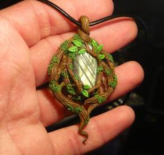 Forest Glade _ Pendant with Labradorite by Ganjamira.deviantart.com on @deviantART