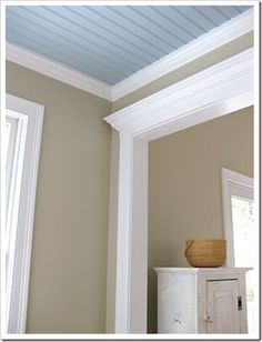 Explains Paint Sheen.  I like Matte for walls and satin or high gloss for doors and trim.