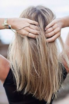 Messy Medium Straight Hairstyle