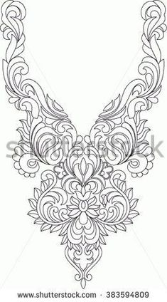 Folk Embroidery Patterns Hungarian folk art - buy this vector on Shutterstock Chain Stitch Embroidery, Tambour Embroidery, Hungarian Embroidery, Folk Embroidery, Learn Embroidery, Embroidery Stitches, Embroidery Patterns, Machine Embroidery, Bordados Tambour