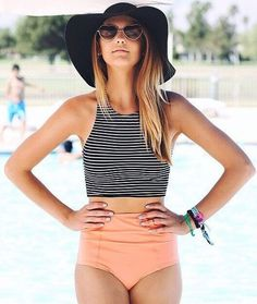 29 High Waisted Bikini Ideas that are just Simply Gorgeous