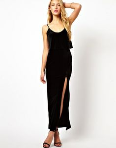Cami Maxi Dress in Velvet, classic 90s look