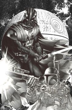Star Wars #1 - Darth Vader and Boba Fett by Mike Deodato Jr. *