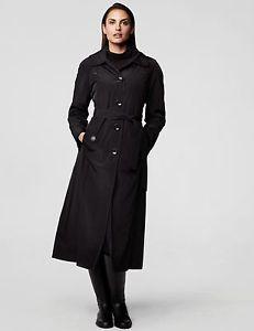 London Fog Best Seller Sophia Long Raincoat with Detachable Hood & Liner NEW