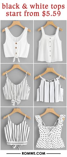 black & white tops from $5.59