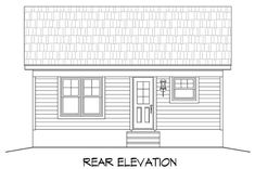 This Small House style home plan with Cottage influences (House Plan has 561 square feet of living space. The 1 story floor plan includes 1 bedroom. Unique Small House Plans, Elevated House Plans, Narrow Lot House Plans, House Plans And More, Cottage Style House Plans, Cottage Plan, Cottage House, Small Cottages, Cabin Plans