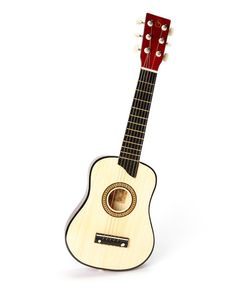 I've heard such good things about these guitars. Love that they come in so many colors! :: Natural Music Pro Kids 25'' Acoustic Guitar on #zulily