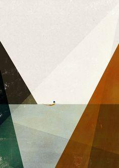 Nadadora II big print by blancucha on Etsy