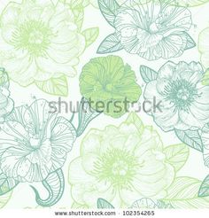 Arte e grafica vettoriale d'archivio di Flowers Background | Shutterstock