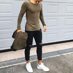 A casual street look by Nemanja Grujic. Follow us on Pinterest @gent_manor for men's fashion inspiration.