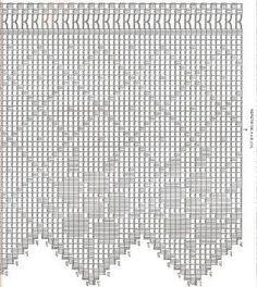 Risultati immagini per barras de crochet para cortinas Crochet Tree, Annie's Crochet, Diy Crafts Crochet, Filet Crochet, Crochet Doilies, Crochet Stitches, Crochet Projects, Crochet Designs, Crochet Patterns