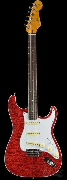 Fender Custom Deluxe NOS Stratocaster Yuriy Shishkov Masterbuilt Red Stain Quilt - Wild West Guitars