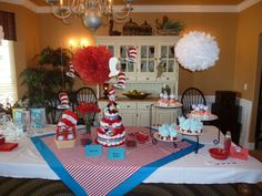 Dr. Seuss Baby Shower for boy or girl