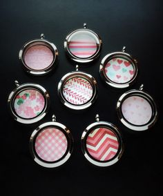 Window Insert for Floating Lockets-Choose from 12 Designs-For Medium or Large Lockets-Gift Ideas