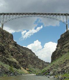 the bridge over the Gorge near Taos, NM
