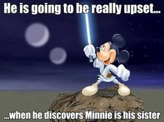 Dump A Day Funny Pictures Of The Day - 84 Pics. Minnie is Mickey's sister? STar Wars, Disney