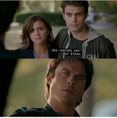 I was screaming and crying in this scene. My poor baby Damon. I can't wait for Elena to come back.