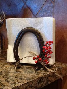 Horse shoe napkin holder <3