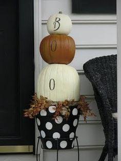 DIY Painted Halloween Pumpkin Topiary... - Uncommon Designs