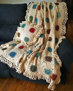"""You're My Universe"" Afghan & Pillow Set Crochet Pattern"