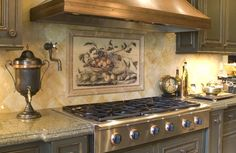 kitchen backsplash tile patterns | Beautiful Backsplash Murals Make Your Kitchen Look Fantastic | Modern ...