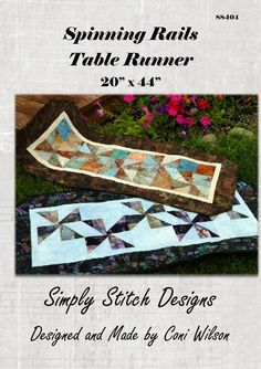 Simple and fun table runner that uses a Bali Snap or a Charm Pack to create its elegance!  Purchase at www.simplystitchdesigns.com