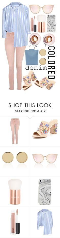 """Colored Denim"" by collie-elapo-smith on Polyvore featuring George, ALDO, Magdalena Frackowiak, Lancôme, Martha Stewart, Recover, MAC Cosmetics, Vetements and Topshop"