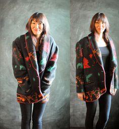 Vintage Western Fleece Indian Southwest Blanket by drowsySwords, $110.00