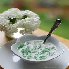 Lot Chong Nam Kathi Pandan Flavored Rice Flour Noodles In Coconut Milk Similar To