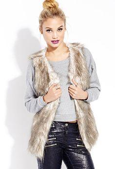 Vintage-Inspired Furry Vest   FOREVER21 - 2000125643 #ForeverHoliday