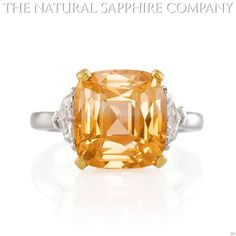 Natural Orange Sapphire Ring Gold Jewelry