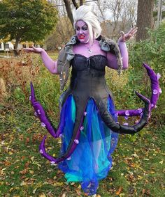 Ursula from the Little Mermaid DIY costume