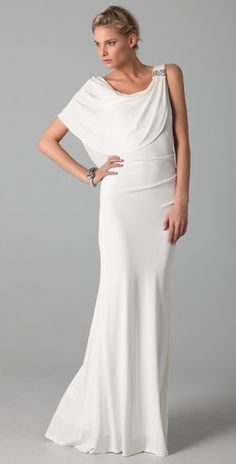 Not that I think it's happening anytime soon -- but I love this for a wedding dress.  Oh, I'm still wishing!