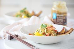 I've always had a sweet spot for Pad Thai. Creamy noodles, crunchy sprouts, salty peanuts... plus a tangy sauce that nails sweet, salty, spicy and sour, all at the same time. This delicious salad is my summer version of that classic...