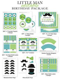 Little Man Mustache Bash Editable INSTANT by PartiPartieParty