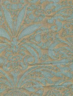 Campanelle in aquamarine In Light Blue: http://fortuny.com/Fabrics.aspx#28028196-ebb2-4392-9498-f4f064e35c7c #fortuny  Follow Fortuny on Pinterest! pinterest.com/fortuny