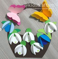 Camping Crafts For Kids, Mothers Day Crafts For Kids, Art Drawings For Kids, Art For Kids, Hobbies And Crafts, Diy And Crafts, Christmas Tree Paper Craft, Diy Happy Mother's Day, Easter Bunny Template