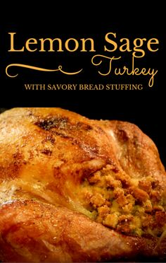 If you're wondering how to effectively and safely cook stuffing inside a turkey, Michael Symon prepared a Lemon Sage Turkey with Savory Bread Stuffing.