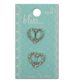 Bliss Crystal Heart Slide