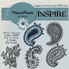 HeartPrints By Kc: NEW CU Freebie Paisley Stamps