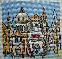 Cross Stitch - Mini Venice Street by Michael Powell