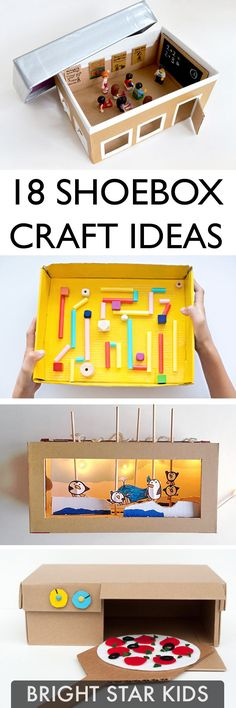 For more child-friendly ideas and DIY's go to blog.brightstarkids.com.au #shoeboxcraft #craftideas #recycleshoebox