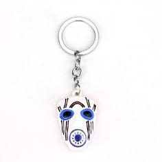 Borderlands 2 White Blue Mask Keychain